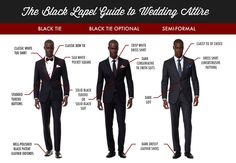 HOW TO DRESS FOR A WEDDING.. definitions of the dreaded dress codes (black tie, black tie optional, semi-formal) #tux #blacktieoptional