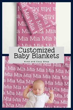 Looking for baby bedding? Create a custom baby blanket on our Etsy shop. Baby Blanket Size, Blanket Sizes, Personalized Baby Blankets, Baby Bedding, Typewriter, Fonts, Names, Etsy Shop, Create