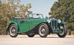 1936 British Racing Green MG TA Roadster