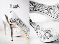 painted wedding shoes | Wedding shoes for your Rhodes wedding | Rhodes wedding planners - RWP ...