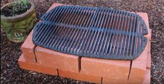 Step 4: Position Your Cast Iron Grate | How To Make A Temporary Brick Grill
