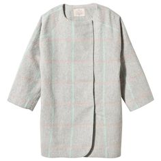 Oh...My! Grey and Pastel Check Coat