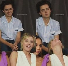 Cole Sprouse and Lili Rineherat Riverdale Netflix, Bughead Riverdale, Riverdale Archie, Riverdale Funny, Riverdale Memes, Betty Cooper, Dylan Sprouse, Riverdale Betty And Jughead, Zack Y Cody