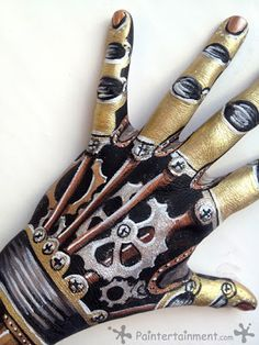 How to paint a steampunk hand