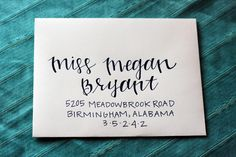 modern mix style - what kaitlyn wants for her place cards!