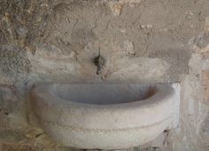 #Bathroom #sinks #crescent #stone  By Ancient Surfaces For more information Call us at: 212-461-0245 // 212-913-9588 Sales@AncientSurfaces