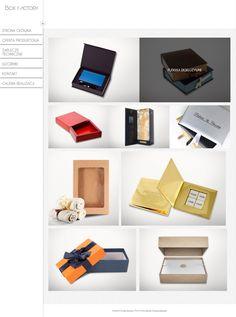 Strona przygotowana dla firmy Box Factory - producenta opakowań ozdobnych.