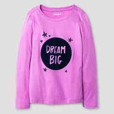 Girls'  Long Sleeve Dream Big Graphic T-Shirt Cat & Jack™ - Baracoa Violet