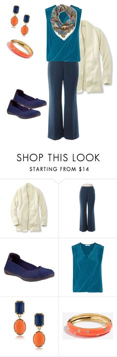 """Untitled #89"" by deb-coe on Polyvore featuring L.L.Bean, Tahari by Arthur S. Levine, Bernie Mev, Bailey 44, 1st & Gorgeous by Carolee, J.Crew and Pollini"