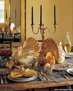 Gold spray paint those ugly turkeys!