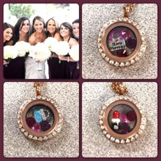 Need the perfect gift for your wedding party? Choose personalized lockets from South Hill Designs with my help! junebugscharms@gmail.com