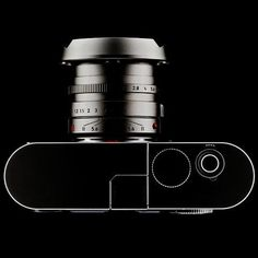 Leica // clean fine lines, and dark colors and metals makes gives it a rich feel.