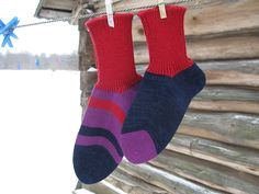 Couple sock set by CloudberryFactory on Etsy