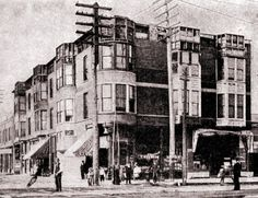 Herman Webster Mudgett's Murder Castle, Chicago ~ a rare photograph of the house of horrors.  Now a post office...is it haunted?