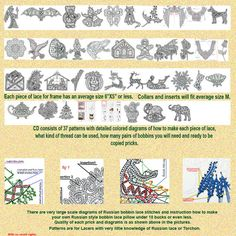 37 very easy to make bobbin lace patterns by BobbinLacePatterns