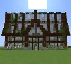 simple beautiful Green house Minecraft Project