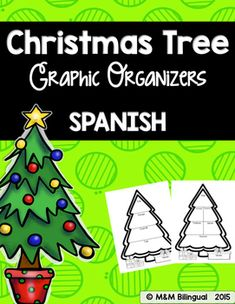 Organizadores Graficos de NavidadChristmas Tree Graphic Organizers in SPANISHWhat's Included:4 different Christmas Tree Graphic Organizers to use with any story/book.-1 Story Map-1 Summary (Beginning, Middle, End)-1 Main Idea-1 VocabularyAll in SPANISH!Just print the organizer you need, have the students fill it out, and that's it.