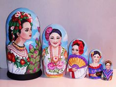 Country beauties -Mexico Matryoshka www.matrioskas.es