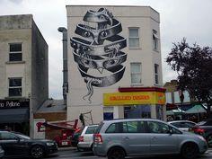 Phlegm (2015) - Dulwich Road and Half Moon Lane, Dulwich, London (UK)