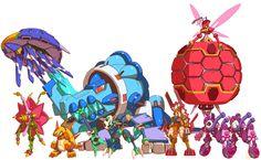 Bosses from Mega Man ZX Advent