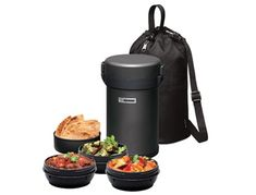 Brown baggin' it takes on a whole new meaning with the Zojirushi lunch box. With four compartments to hold hot and cold foods, I know I would be packing a full out lunch buffet.