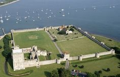 Portchester Castle, Hampshire, England -- ancestral home of the Saint John family