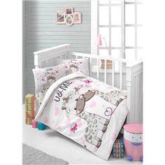Kidboo Baskılı Nevresim Sweet Yıllardır adını konuşturan ileri gelen markalardan Kidboo  bebeklerinize en tatlı uykuyu sağlamak için birbirinden şık ürünleri ile mağazalarımızda