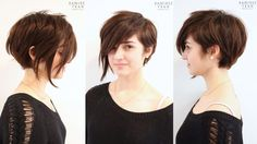 Poppy Assymetrical Pixie Anh Cotran Stylist -prob a bit longer, but super cute.