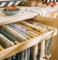 Serving Pieces Linen Storage