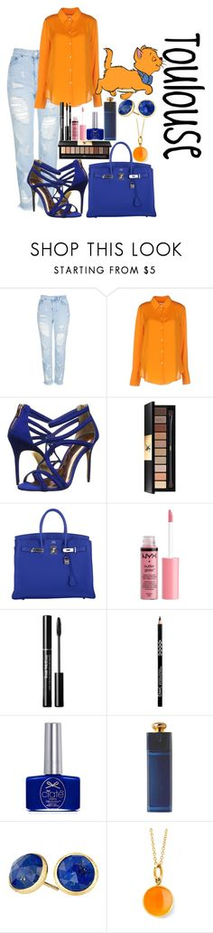 """""""Aristocats-Toulouse"""" by kaylajames234 ❤ liked on Polyvore featuring Topshop, Nanushka, Ted Baker, Disney, Yves Saint Laurent, Hermès, Charlotte Russe, Ciaté, Christian Dior and Marco Bicego"""