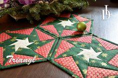 Vánoční prostírka - Patchwork Triangl