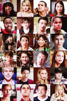 Glee the entire cast of choir kids