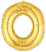 O harfli folyo balon altın sarı gold 75 cm ebatında