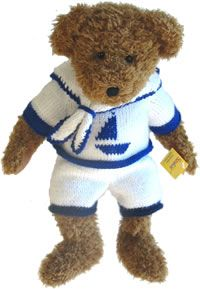 Knitting Pattern Sailor Suit for 16.5 inch Teddy Bear