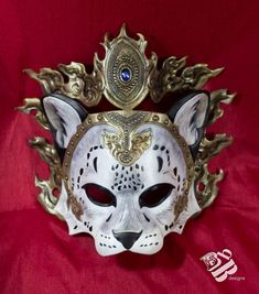 Crowned Snow Leopard Leather Mask by b3designsllc on DeviantArt