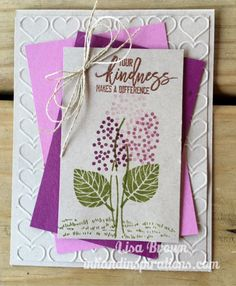 Stampin' Up! Thoughtful Branches Hyacinth Card and Video Tutorial | ink and inspirations | Bloglovin'