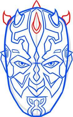 how to draw darth maul easy step 7