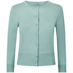 Hobbs Hayley Cardigan, Soft Mint (€82) ❤ liked on Polyvore featuring tops, cardigans, mint green top, hobbs, mint cardigan, 3/4 sleeve cardigan and night out tops