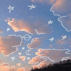 Imagen de sky, drawing, and aesthetic
