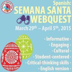 $ Spanish - Extensive Semana Santa Webquest - ENGLISH Version. New and improved from last year! Spanish Teacher, Spanish Class, Spanish Holidays, Hispanic Culture, Spanish Speaking Countries, I School, School Stuff, Classroom Organization, Classroom Ideas