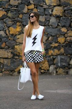 @roressclothes closet ideas #women fashion Checked Shorts