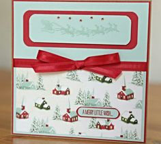Stampin Up Christmas Card Designer Series Paper and Cozy Christmas stamp set