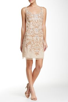Adrianna Papell - Short Beaded Dress at Nordstrom Rack. Free Shipping on orders over $100.