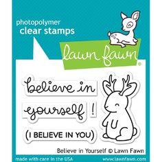 Leimasetti, Lawn Fawn, Believe In Yourself