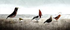 Kenard Pak, Illustrator/visual artist @ PDI Dreamworks:: Hawaiian Birds