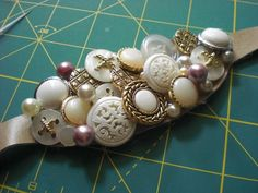Button sash - A lovely way to repurpose old treasures