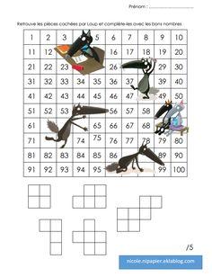 rallye-liens tableau des 100 premiers nombres