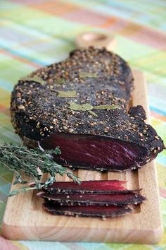 I have always been under an impression that making a decent cured meat at home without having underground cellars or owning some kind of special equipment was impossible. Therefore, every time we v… cellar Home Made Cured Meat Jerky Recipes, Venison Recipes, Meat Recipes, Cooking Recipes, Healthy Recipes, Smoker Recipes, Cooking Tips, Recipies, Charcuterie