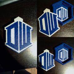 Doctor Who box perler beads by  kristna_yuki