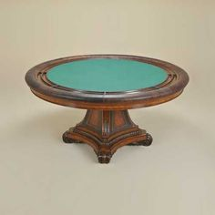 Hand Carved Aged Regency Finished Game Table, Old Attic - 3130-167